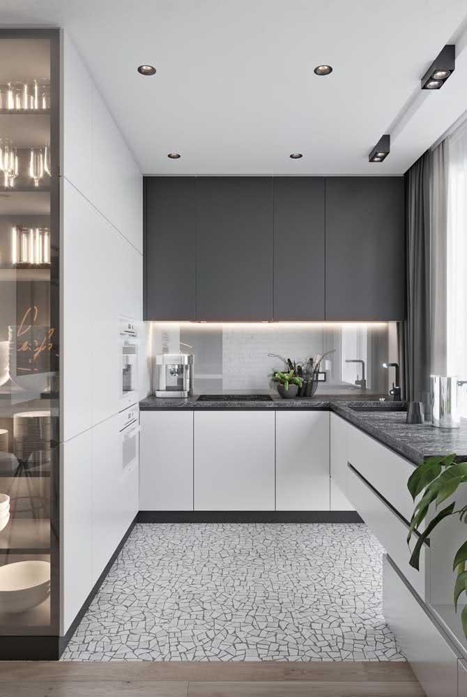 Torre quente para uma cozinha de visual clean e minimalista