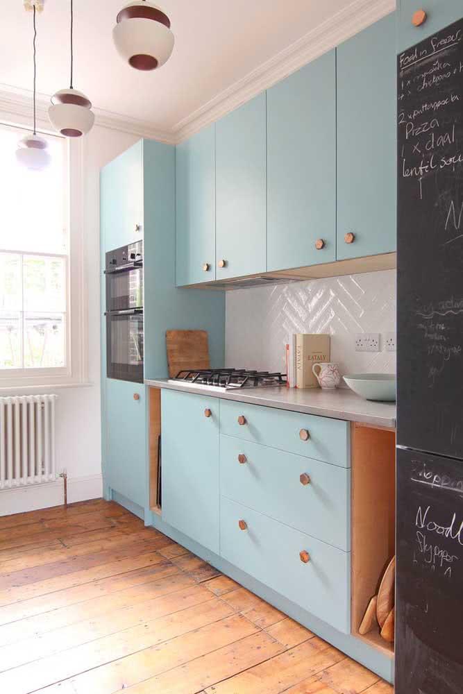 Em apenas uma parede você resolve toda a sua cozinha