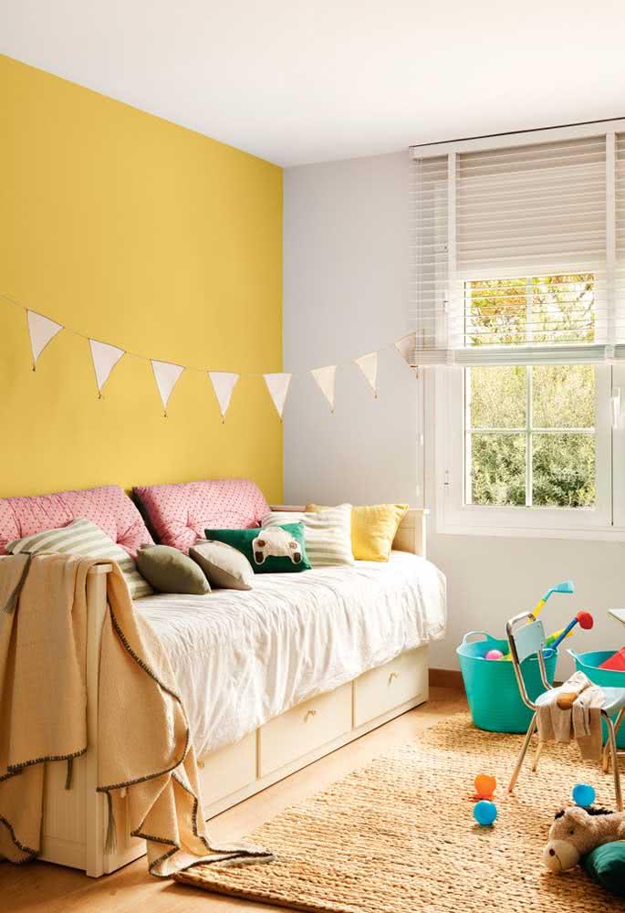 Amarelo pastel no quarto infantil: uma ótima cor para fugir do clássico rosa e azul