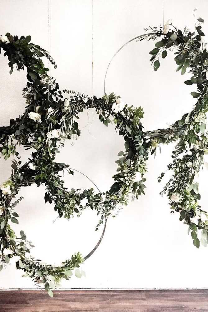 Painel em arcos para quem deseja algo moderno e com toque minimalista