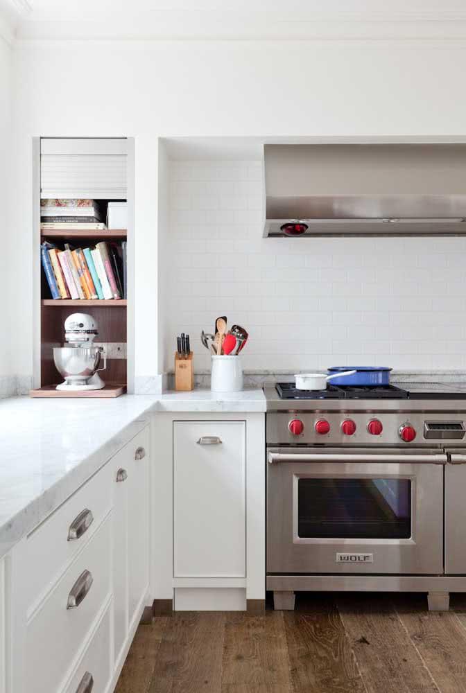 Livros culinários para a cozinha