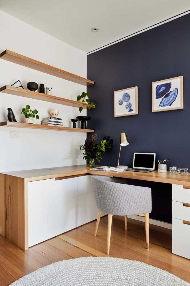 Decoração com livros minimalista e moderna