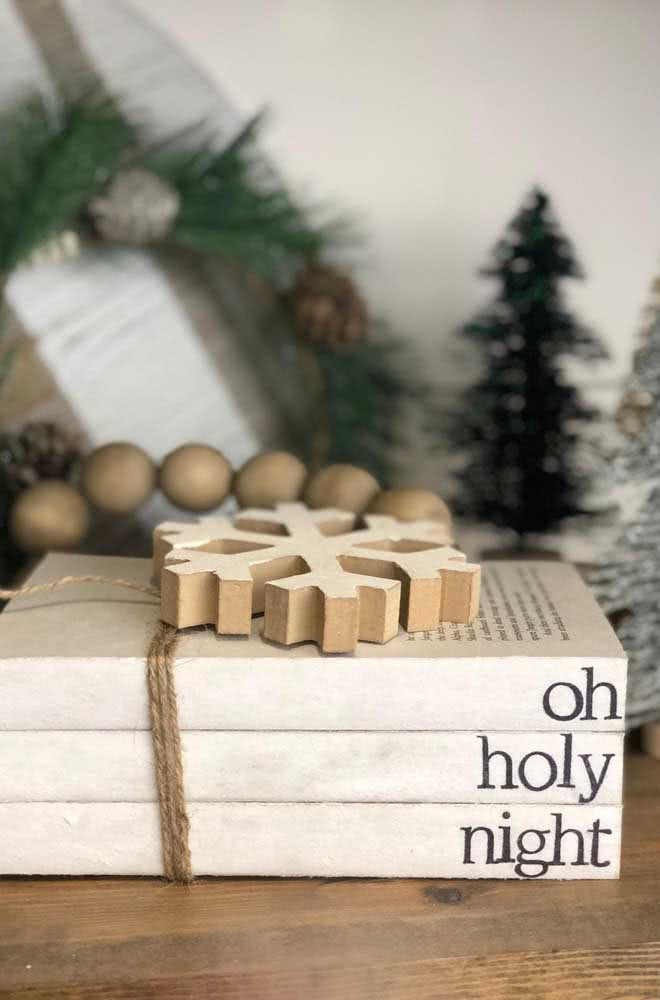 Coletânea de livros para a decoração temática de natal