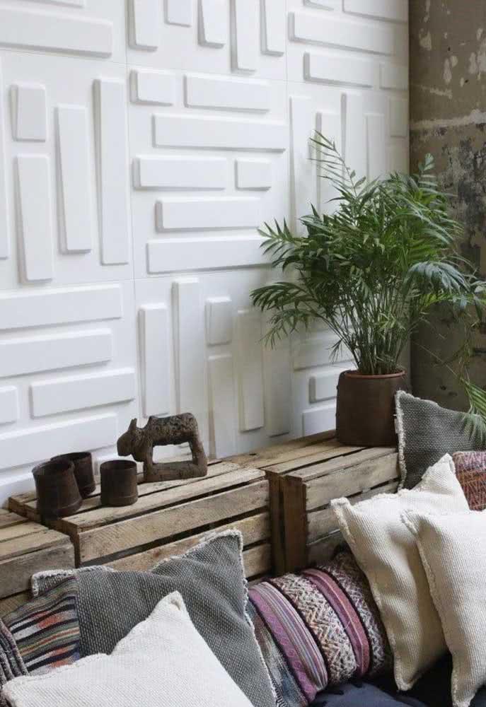 Formas geométricas descontraídas para a varanda da casa