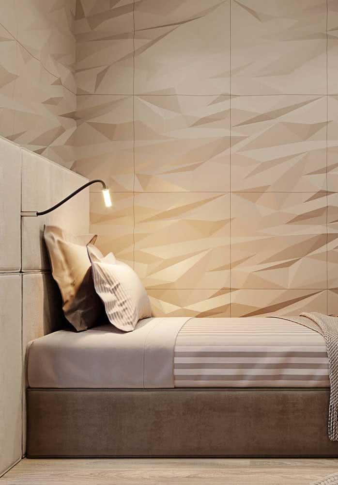 Se for usar a placa de gesso em mais de uma parede, certifique-se que a decoração puxa para o estilo minimalista