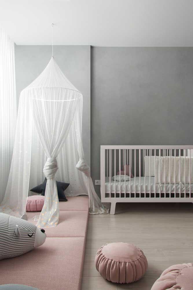 Quarto de bebê minimalista e cheio de charme