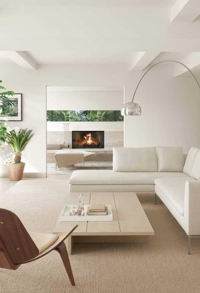 Elegância na sala de estar minimalista