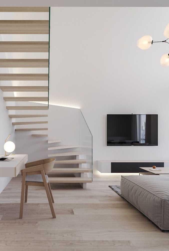 Ambientes minimalistas são econômicos, afinal, você gasta menos para decorar