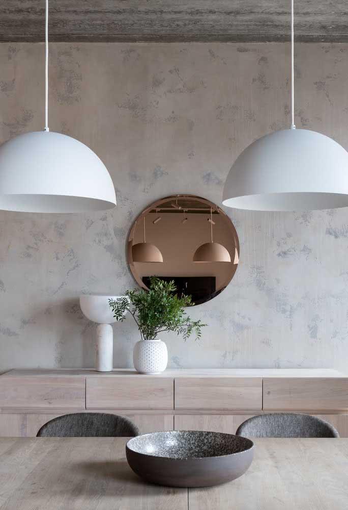 Arte e design na sala de jantar minimalista