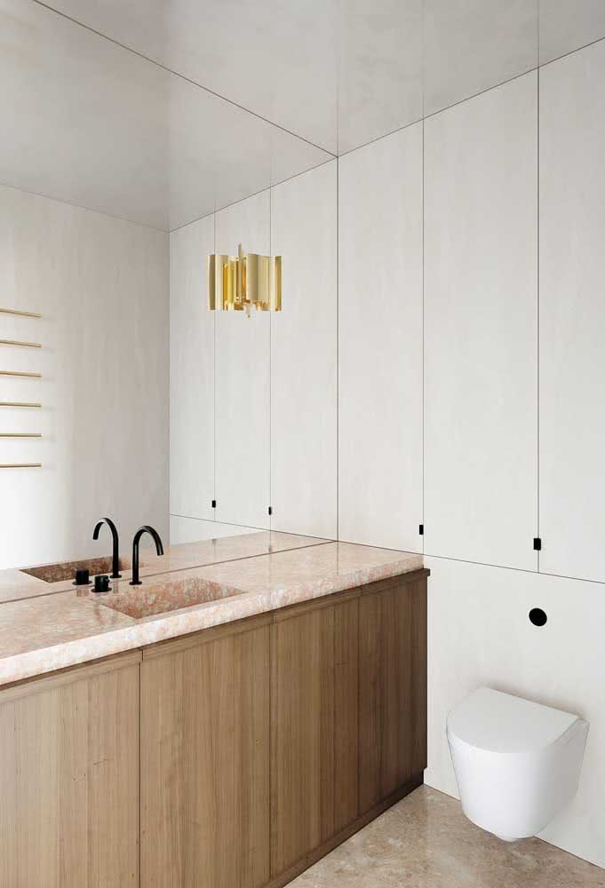 O banheiro mais minimalista e elegante que você vai ver hoje!