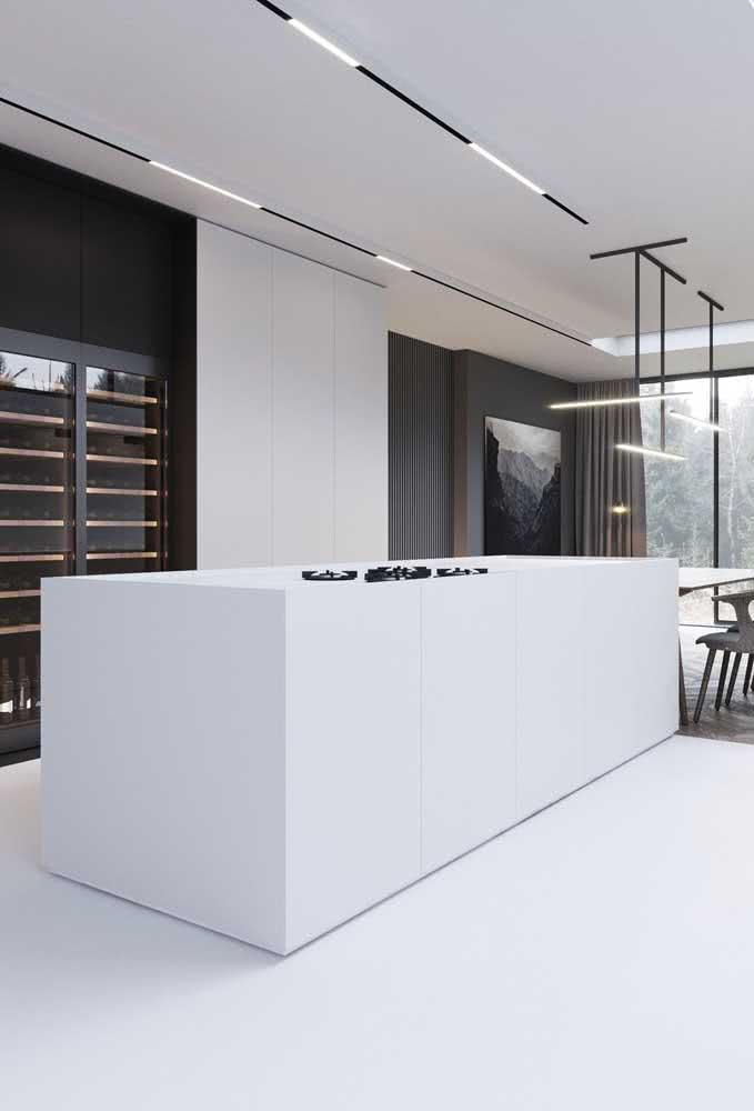 Cozinha moderna, funcional e minimalista