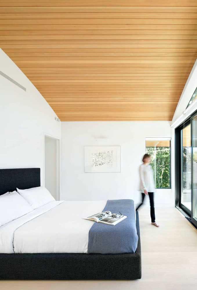 O quarto mostra como uma casa moderna por dentro deve ser
