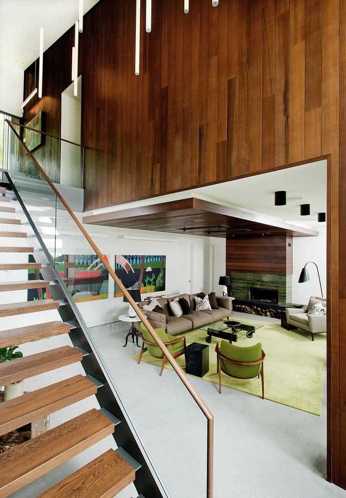 Casa em madeira por dentro prezando pelo conforto