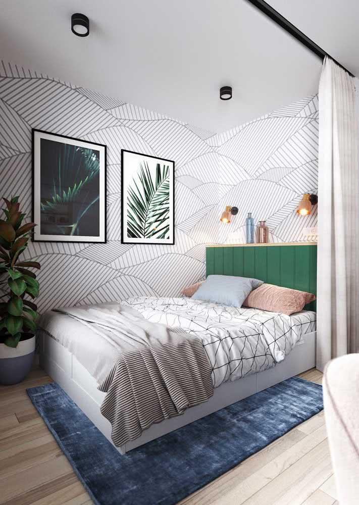 Papel de parede descontraído e suave com linhas grayscale.
