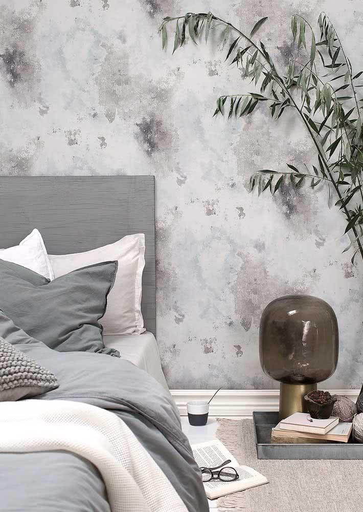 Manchas suaves neste papel de parede fácil de combinar.