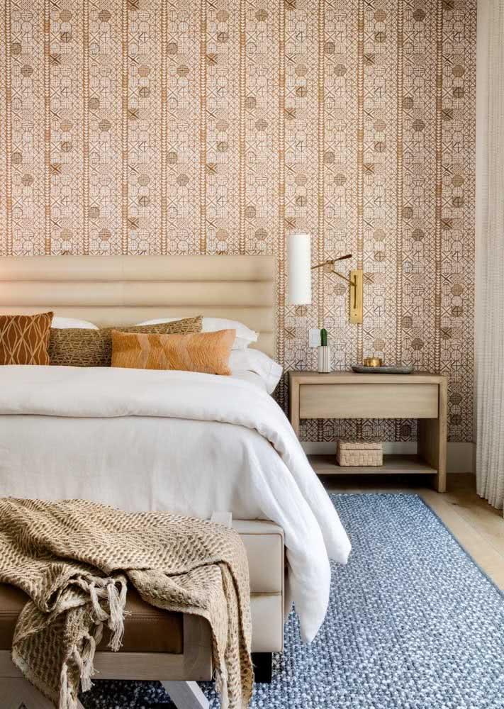 Papel de parede pra quarto de casal elegante.