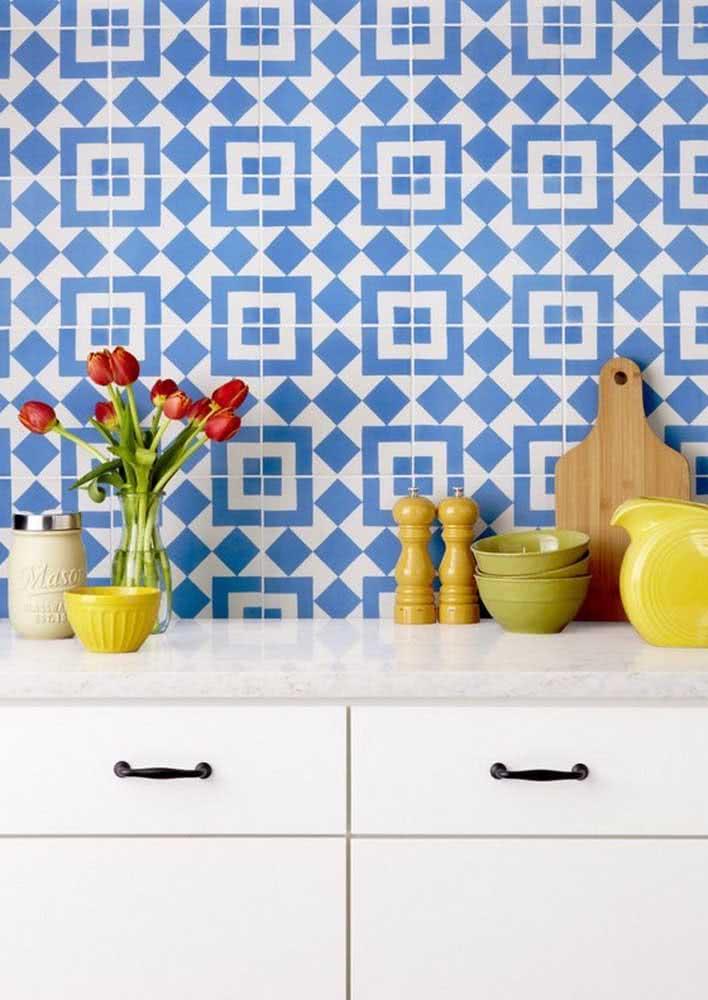Padronagem na estampa com estes azulejos lindos no estilo retrô.