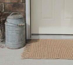 Tapete de crochê para porta