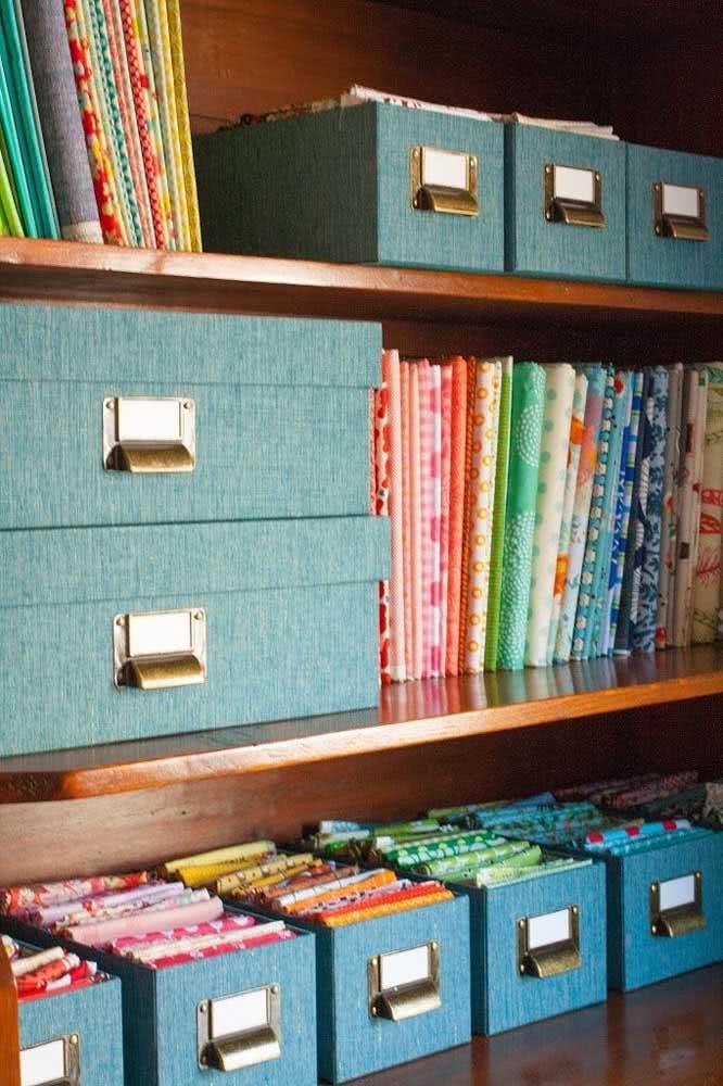 Caixas organizadoras também servem para decorar