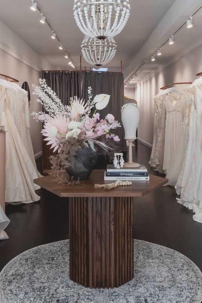 Ateliê de costura para noivas: a decoração aqui é super importante