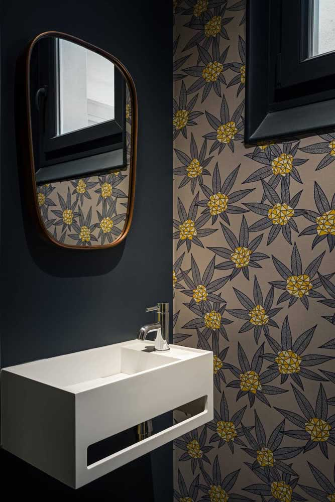Papel de parede floral tropical e moderno