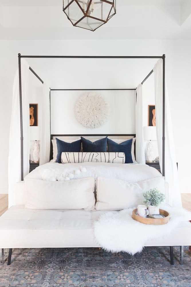 Sofá recamier no quarto: elegância e funcionalidade