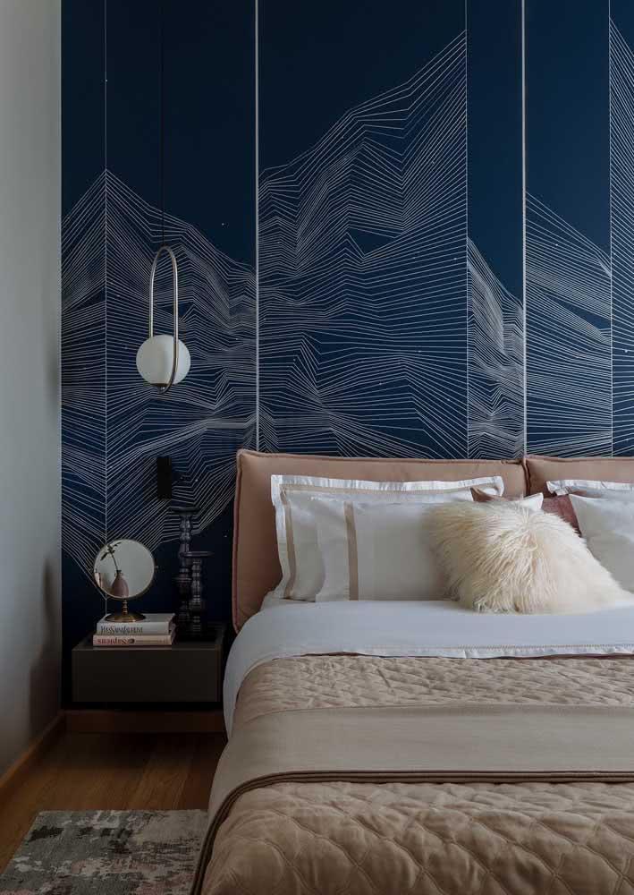 Já quem prefere algo mais moderno, vale apostar em um papel de parede para quarto 3D