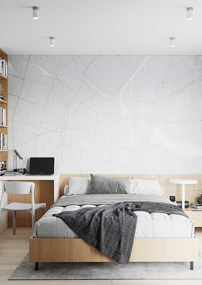 Papel de parede masculino clean e minimalista