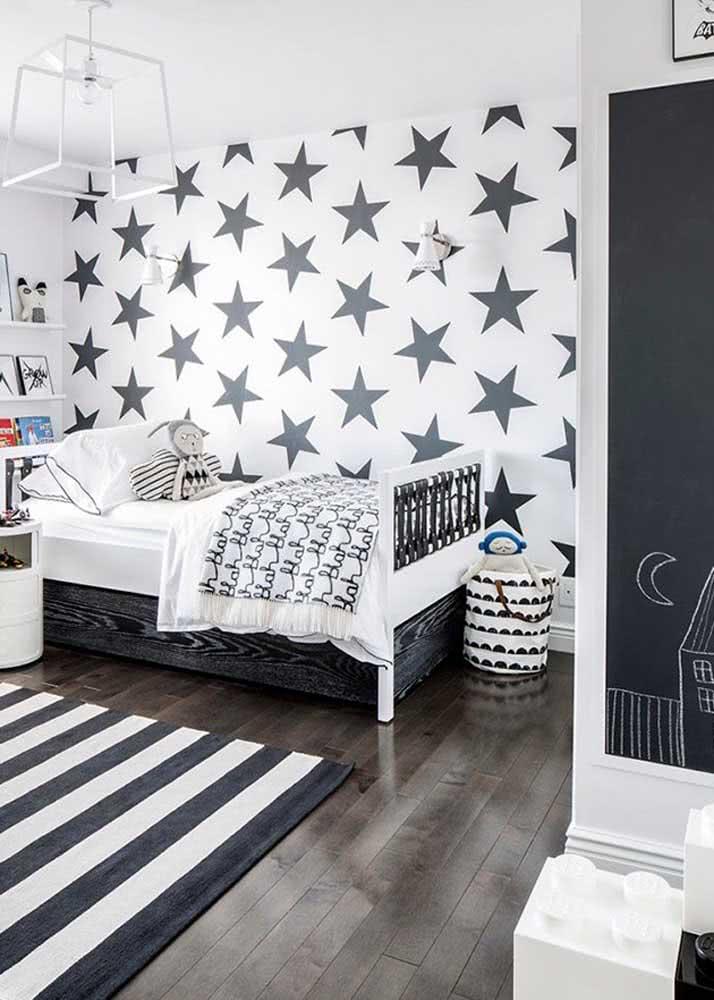 As estrelas são uma ótima opção de papel de parede infantil com tema neutro