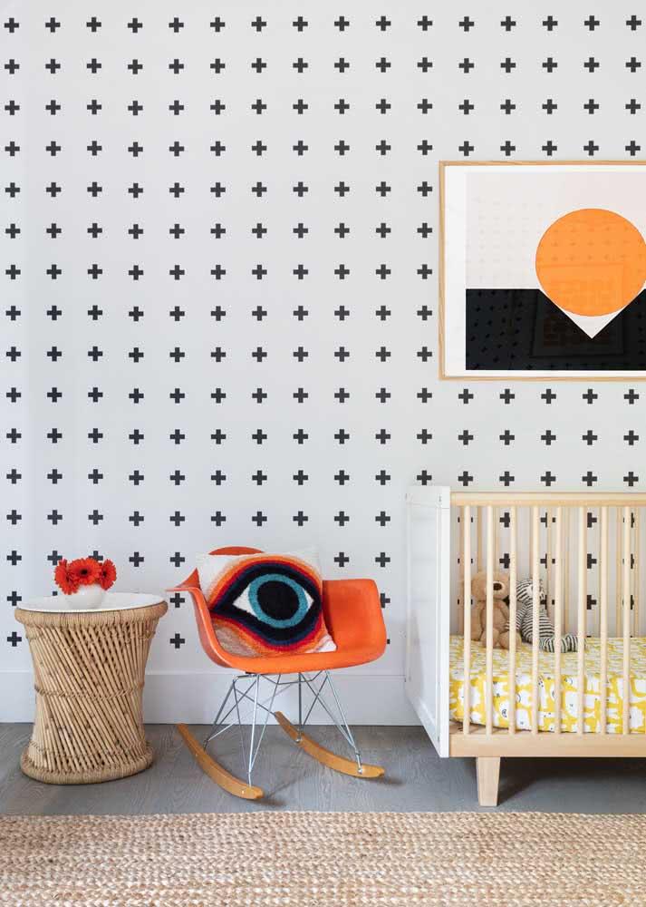 Papel de parede para quarto de bebê em estilo escandinavo