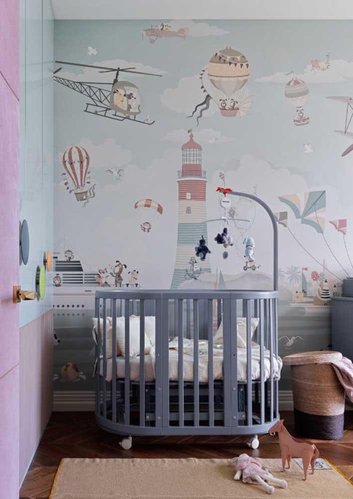 Papel de parede infantil dedicado a um pequeno aventureiro