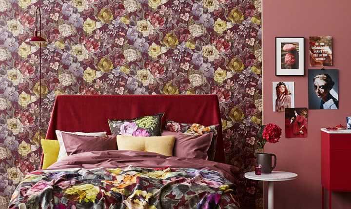 Papel de parede para quarto: vantagens, dicas para escolher e fotos