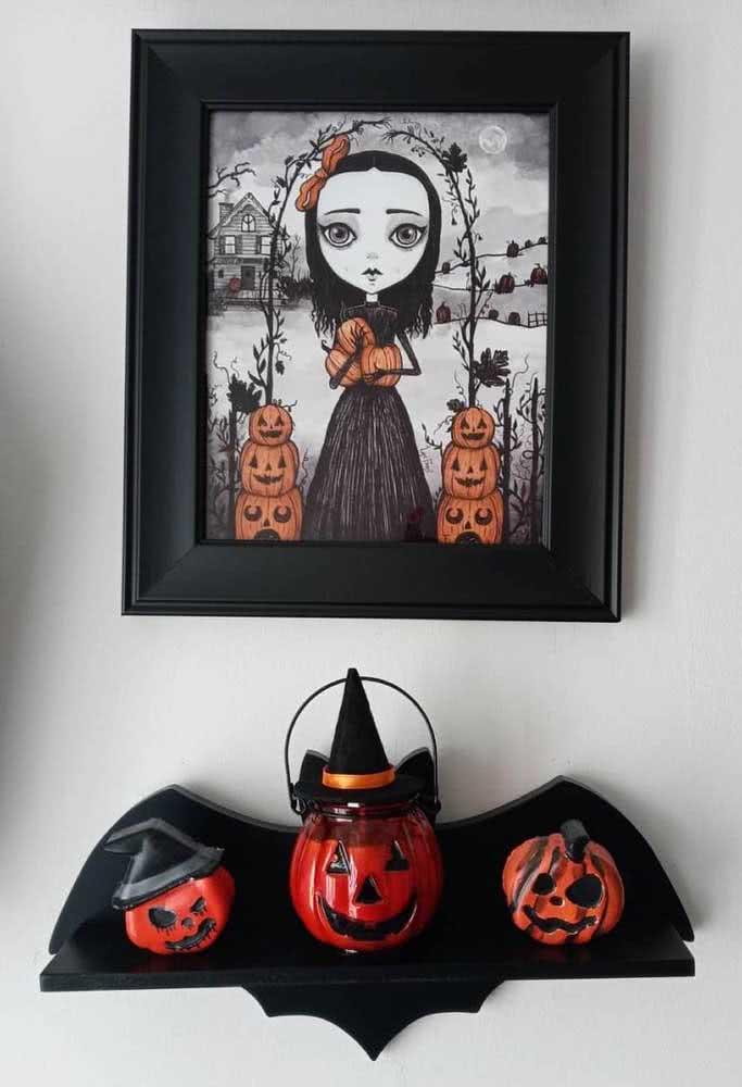 O quadro assustador realça a importância das abóboras no halloween