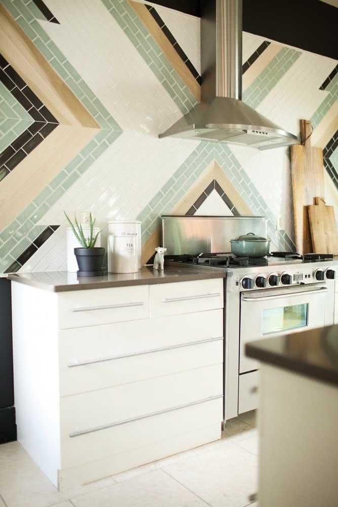 Cerâmica para parede cozinha com uma paginação original e contemporânea