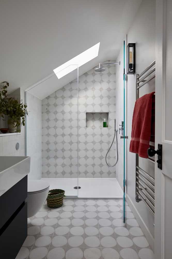 Cerâmica para parede banheiro combinando com o piso