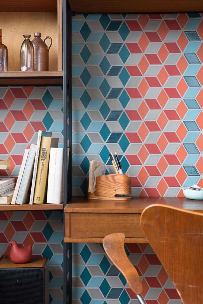 Colorida e moderna, essa cerâmica para parede tira qualquer ambiente do óbvio