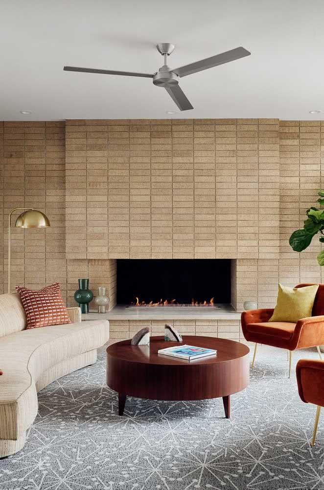 Cerâmica para parede sala: neutra e sofisticada