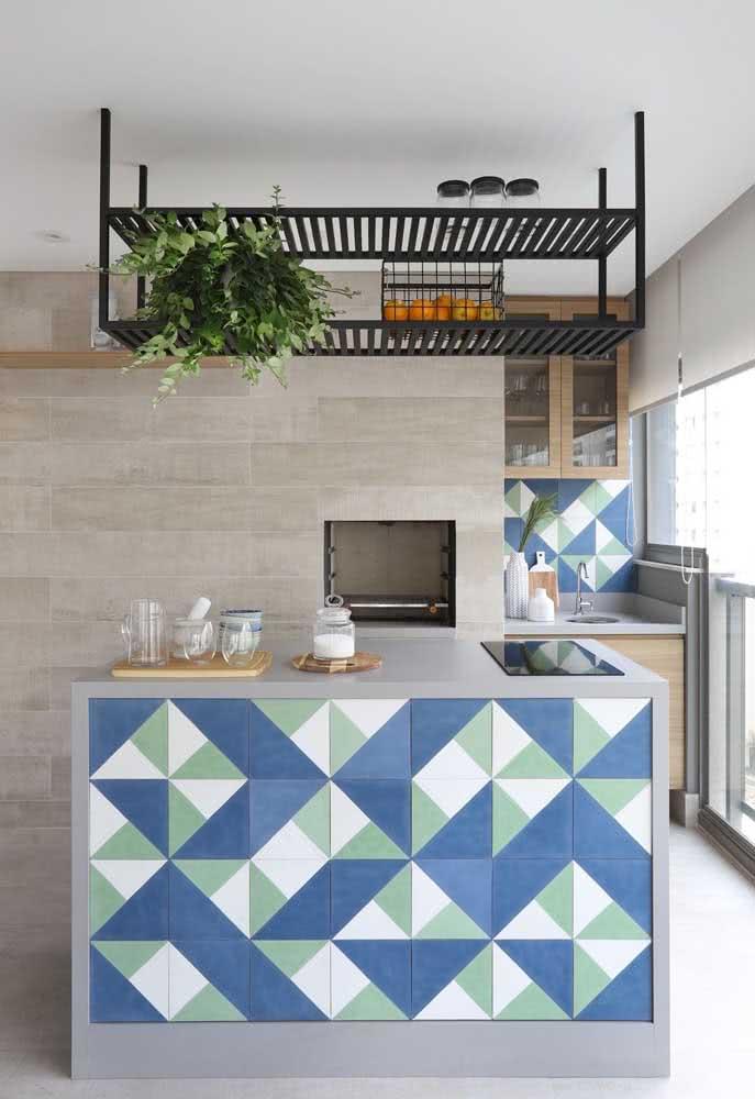 Cerâmica decorativa para parede do balcão da cozinha