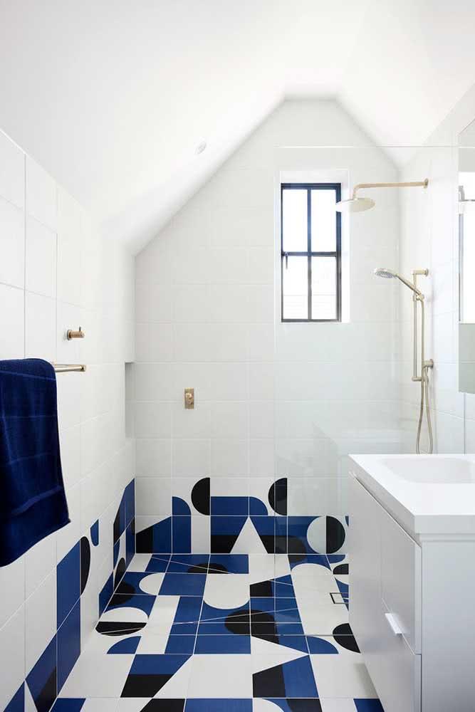 Banheiro branco não precisa ser sem graça