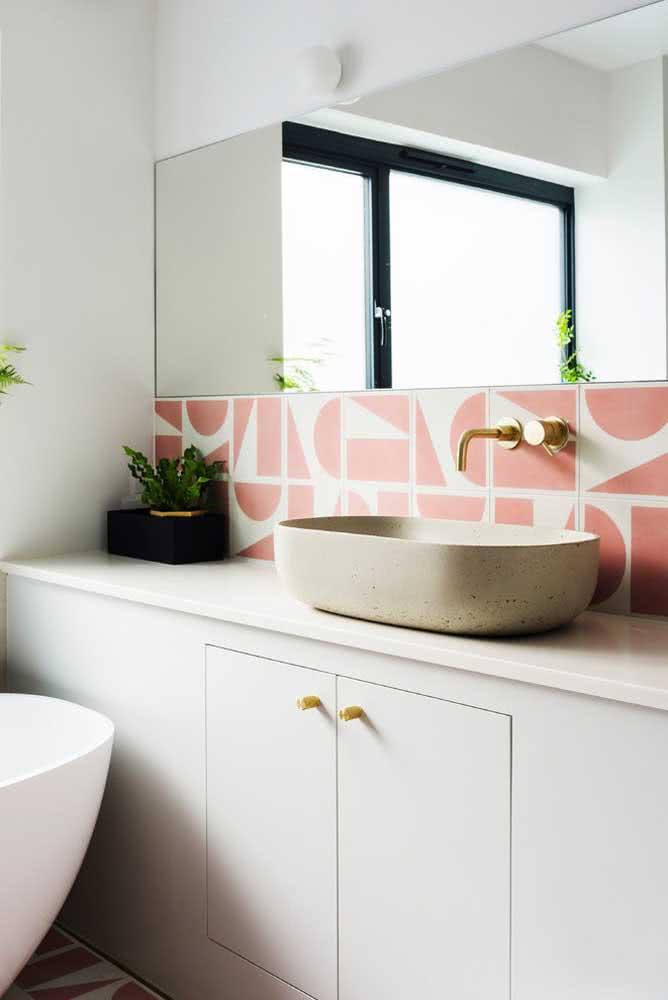 Faixa de cerâmica decorativa para parede do banheiro