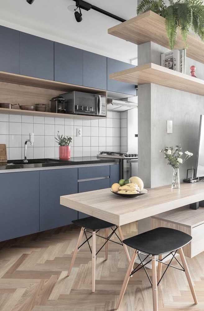 Cerâmica para parede cozinha: simples e neutra