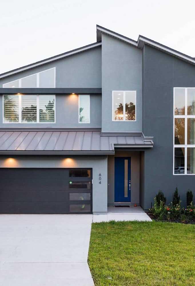Cores de casas modernas que inspiram calma e sofisticação