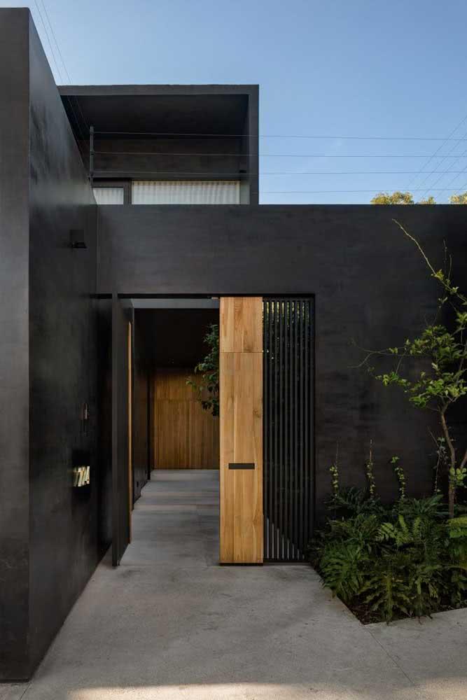 Fachada de casa preta para quem deseja sofisticação no projeto
