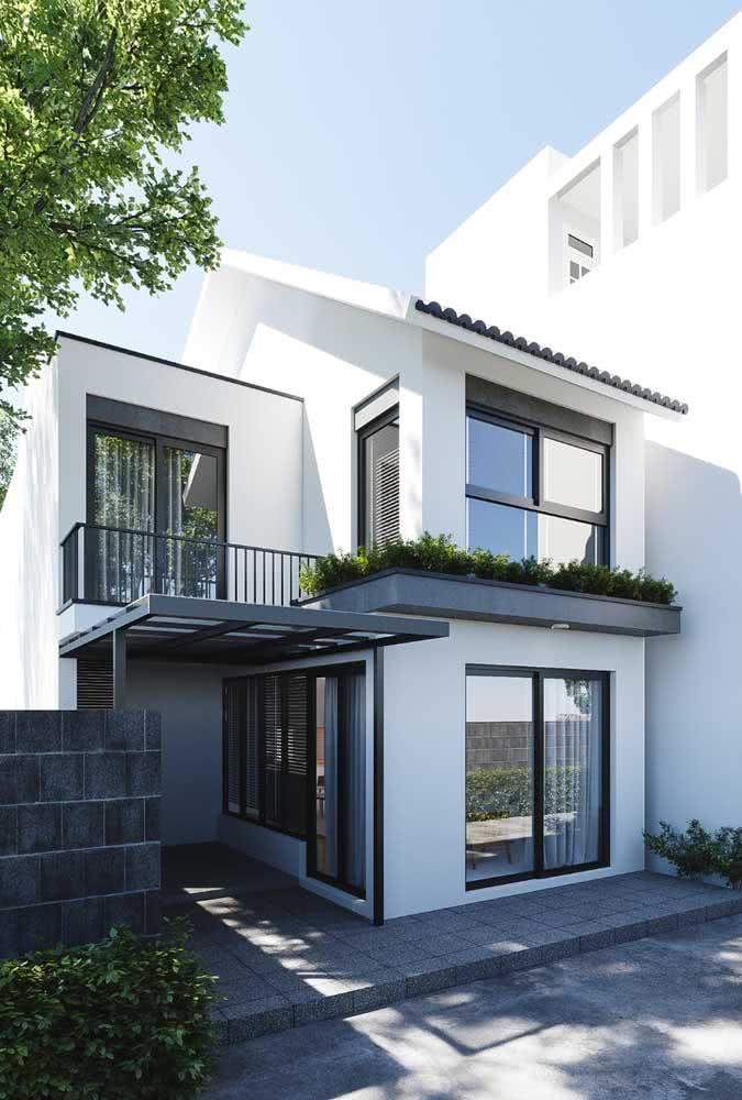 Cores de casas modernas que sempre estão em alta: preto e branco