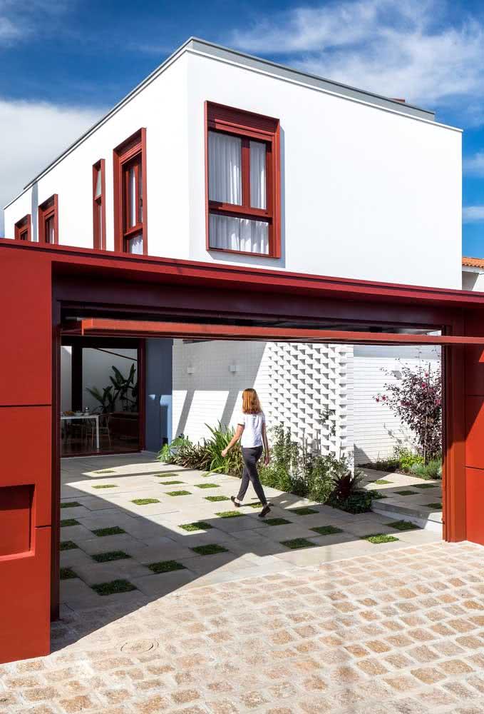 Cores de casas modernas externas, mas com jeitinho de casa rústica