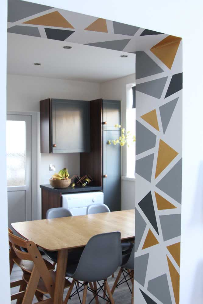 Triângulos para uma pintura geométrica moderna