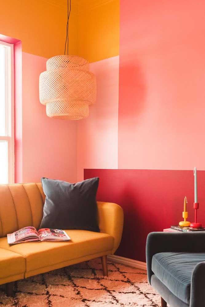 Uma pintura geométrica para aquecer a sala