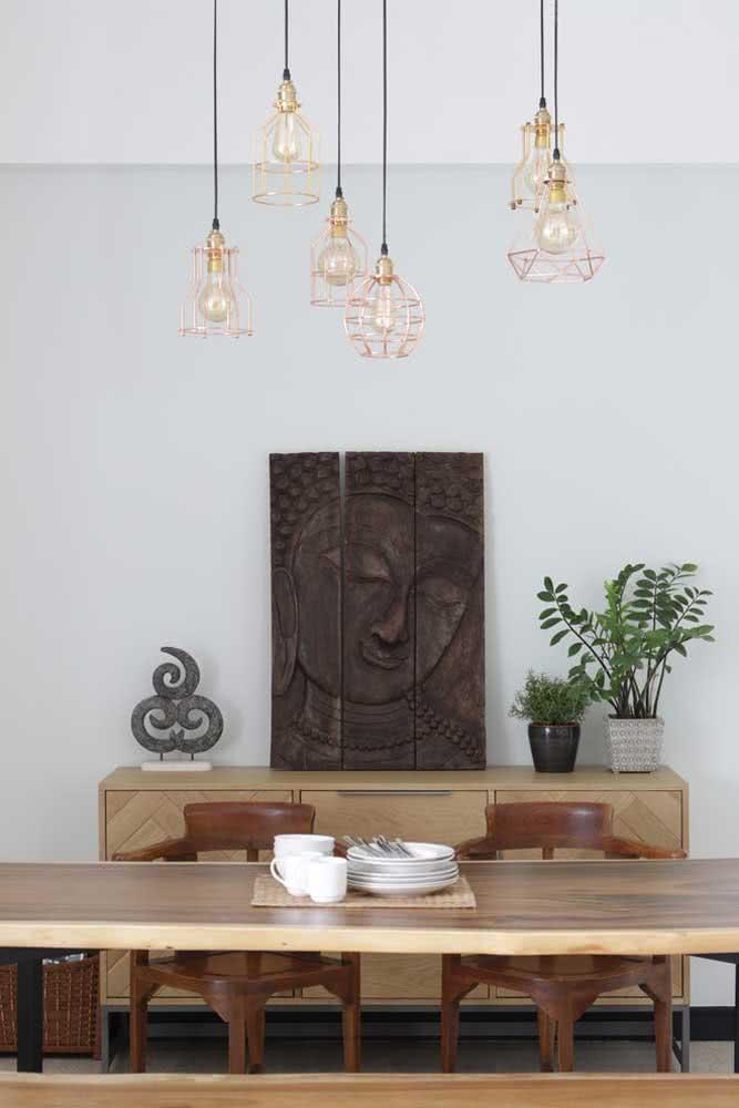 Que tal investir em uma decoração cheia de personalidade finalizada com os pendentes cobre aramados