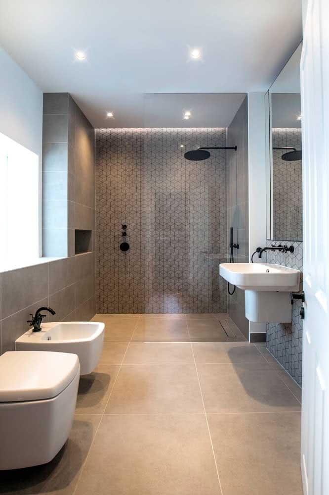 Quanto maior o banheiro, mais confortável fica o uso do bidê