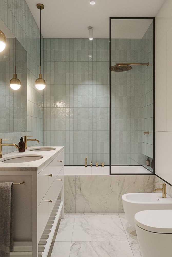 Que tal combinar a torneira do bidê com os demais acessórios do banheiro?